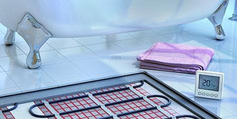 vloerverwarming badkamer Herent